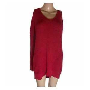 Torrid red chunky knit sweater